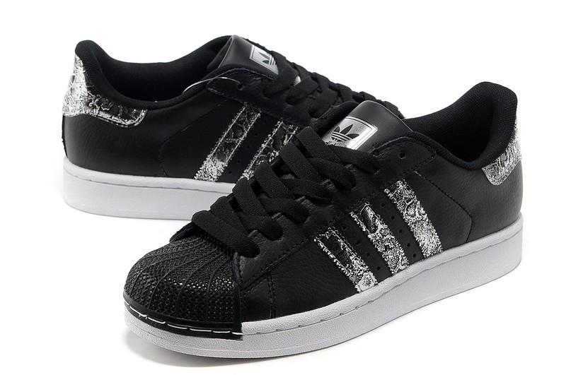 Vente en gros adidas superstar noir argente Pas cher - commulangues.be