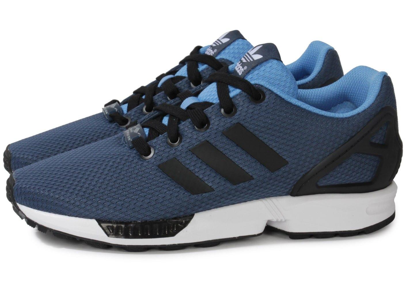 meilleure sélection 565e8 240f8 Vente en gros adidas zx flux bleu et noir Pas cher ...